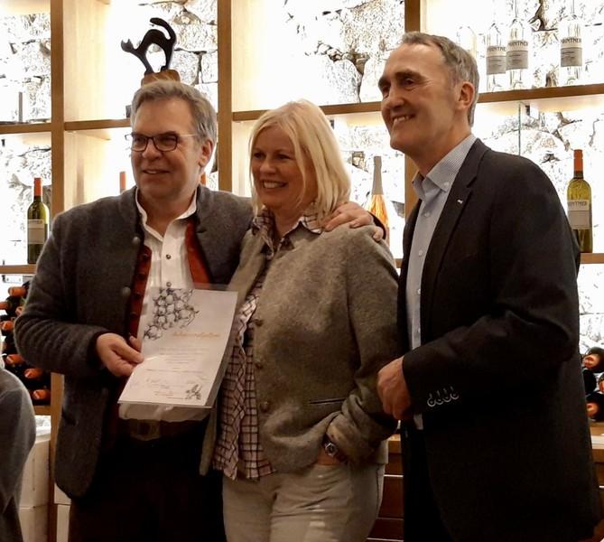 """Verleihung des """"Winzerdiploms"""" im März 2019 im Weinviertel in Österreich"""